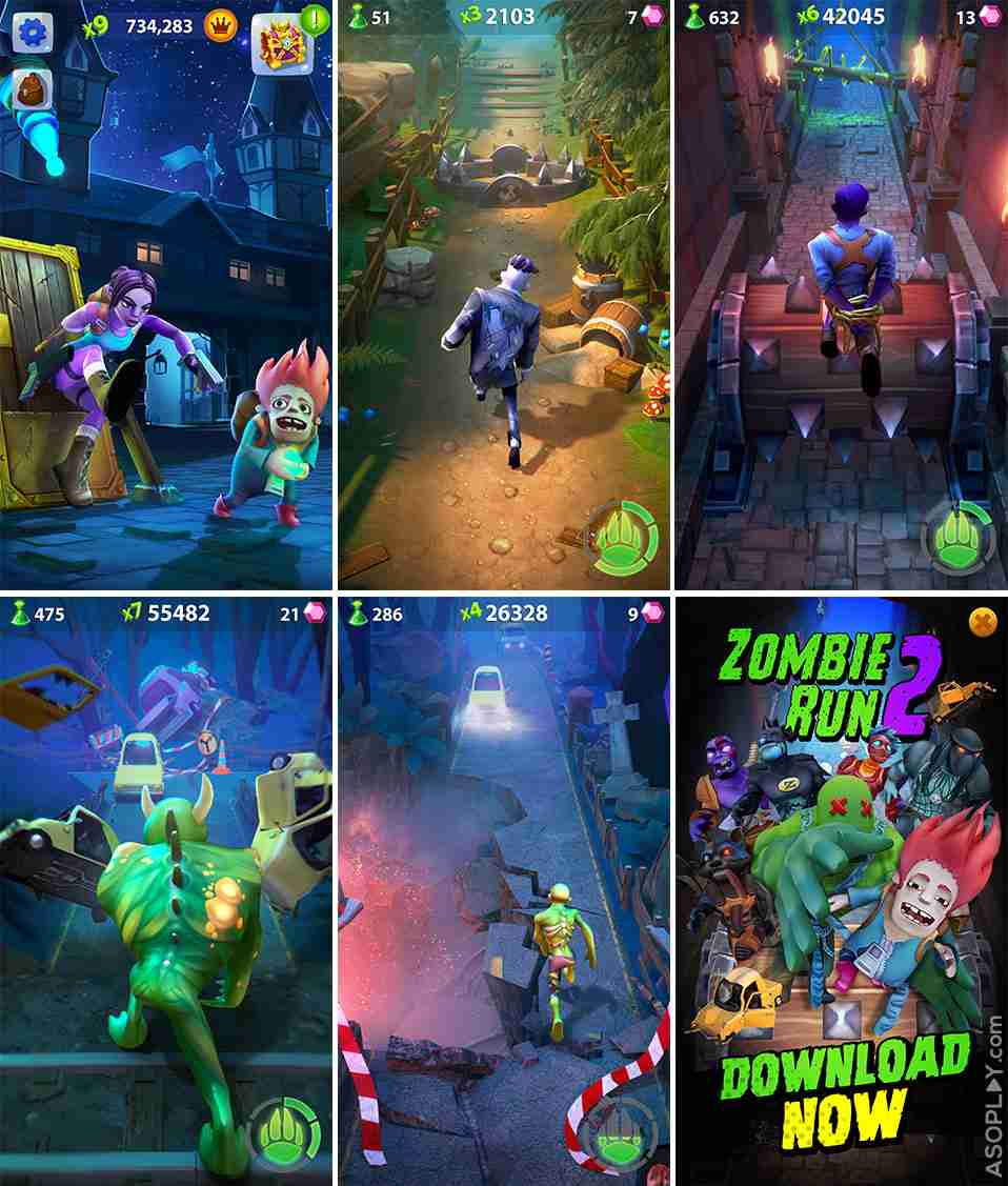 ZombieRun2 screenshots pack new render mobile