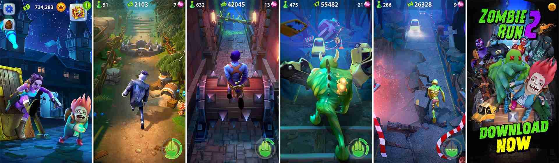 ZombieRun2 screenshots pack new render